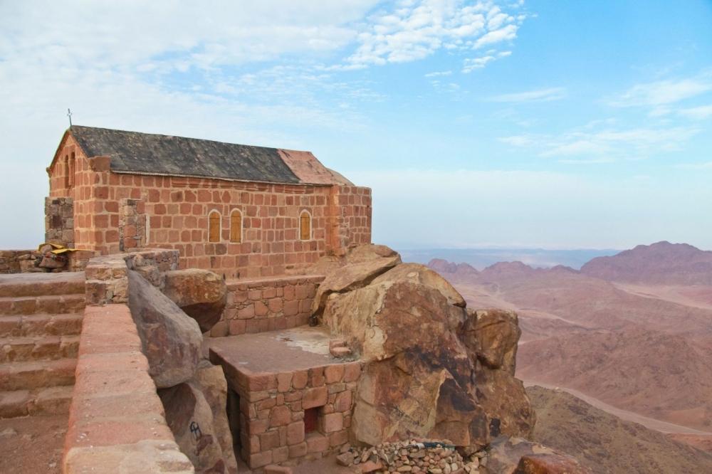 Часовня на вершине горы Моисея
