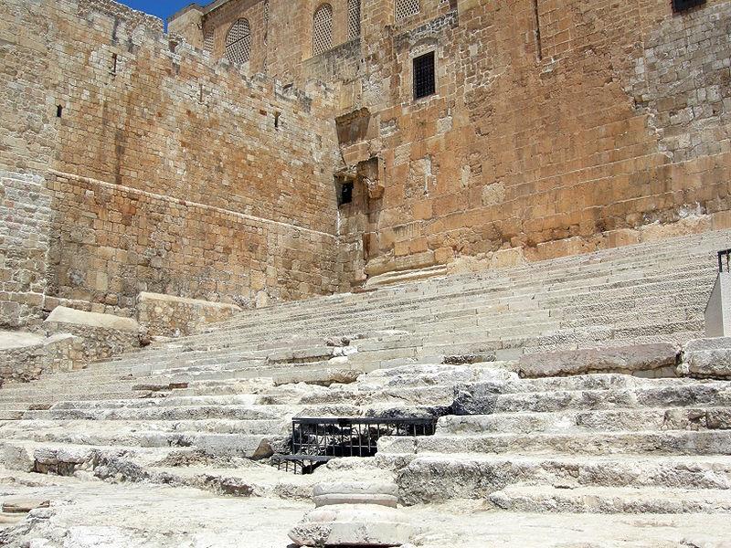 Древняя лестница на Храмовую гору